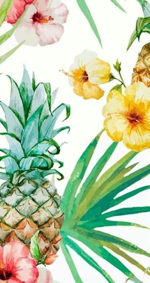 Wallpaper Background And Pineapple Image