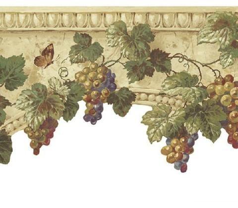 Grapes On Stone Wallpaper Border At75312b Art And Texture Wall Border Grape Wallpaper Beige Wallpaper Stone Wallpaper