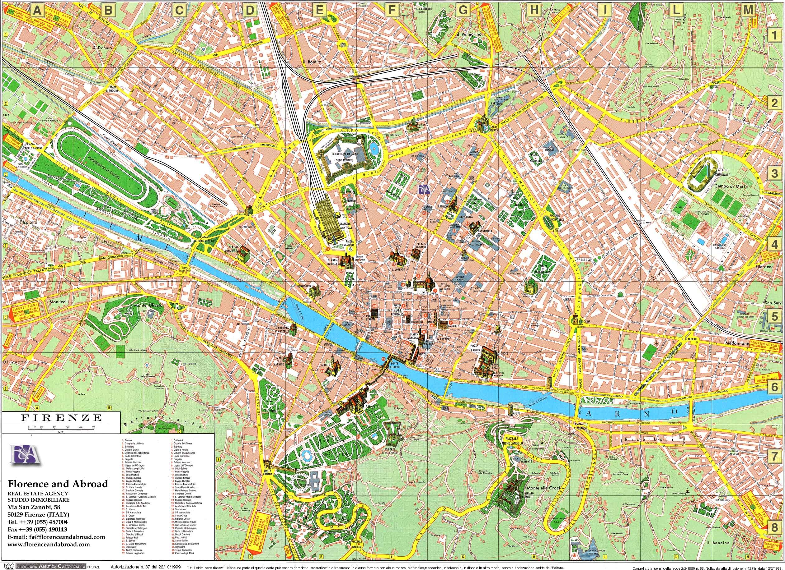 Amendola Italy Map.Florence Map Florence Italy Maps Of The World In 2019