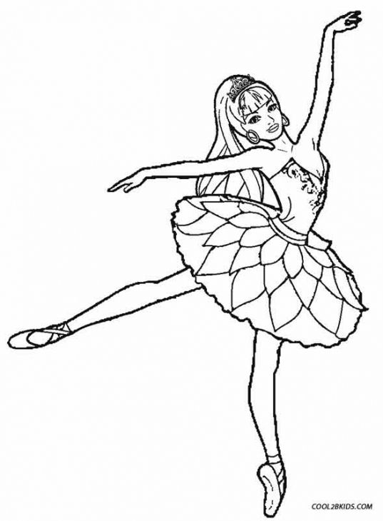 Lovely Ballerina Girl Coloring Page For Kids Coloring Pages For