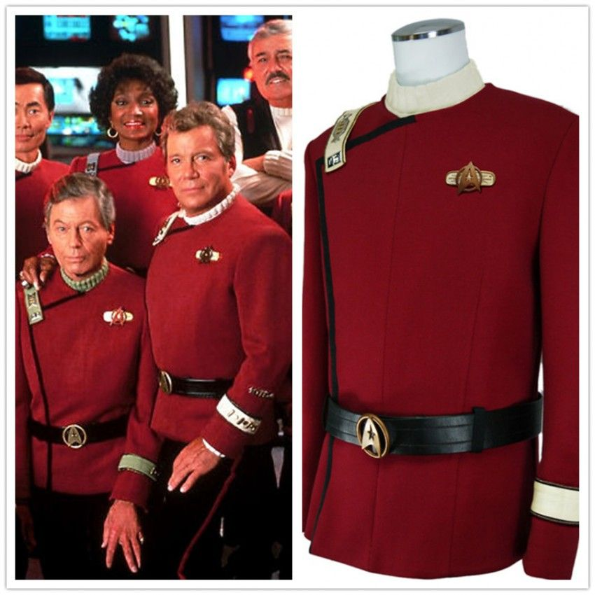 Star Trek Wrath Of Khan Cosplay Starfleet Uniform Costumes