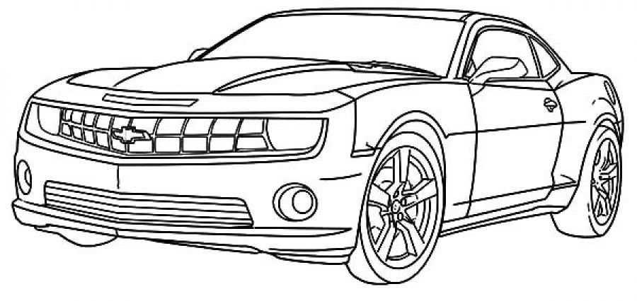 Chevy Camaro Cars Coloring Pages Transportation