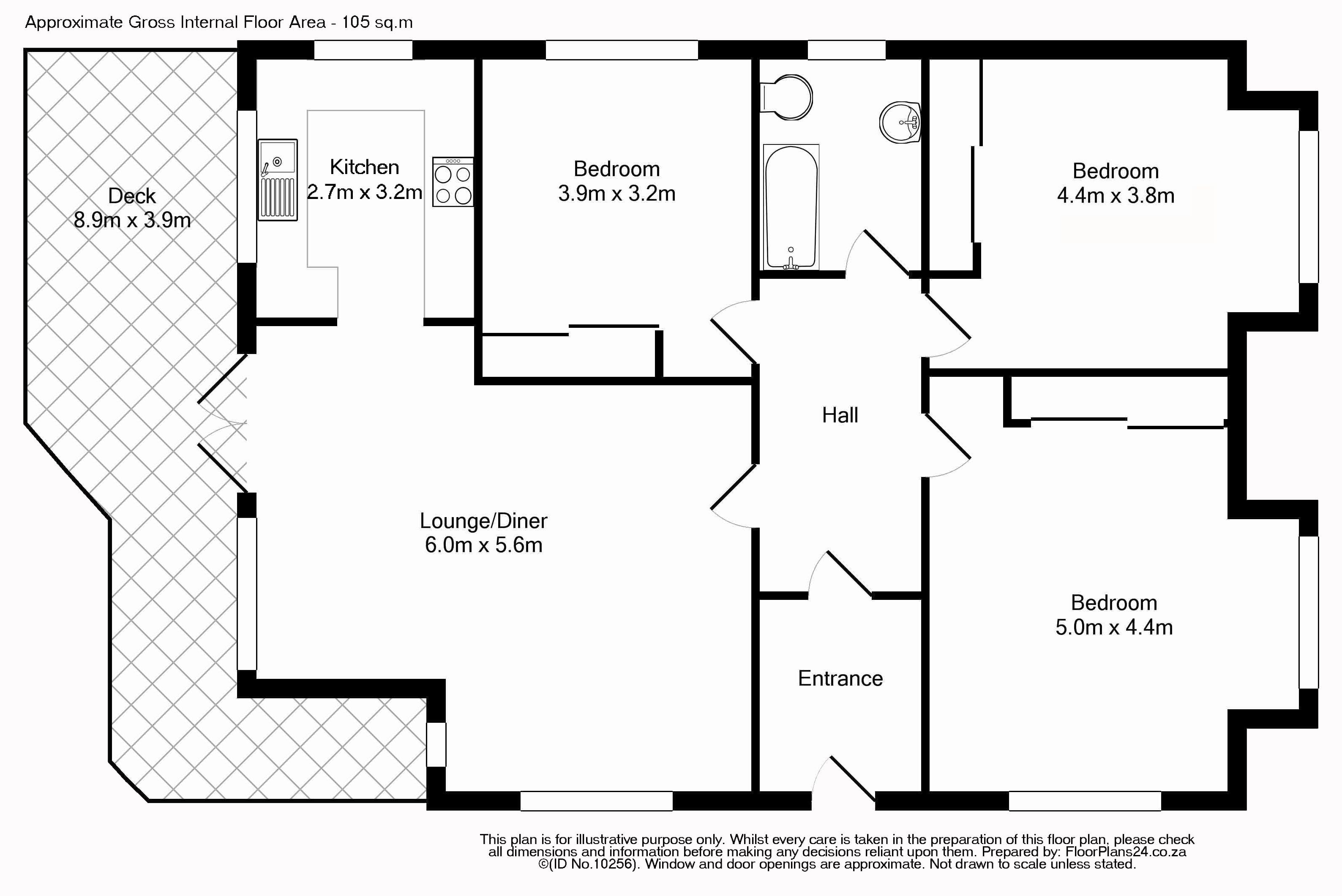 Classic Layout 3 Bedroom Apartment 105 Sq M Floorplans24 Delivers A Solution That Works For You Talk To Us Flat Plan Barn Apartment Layout