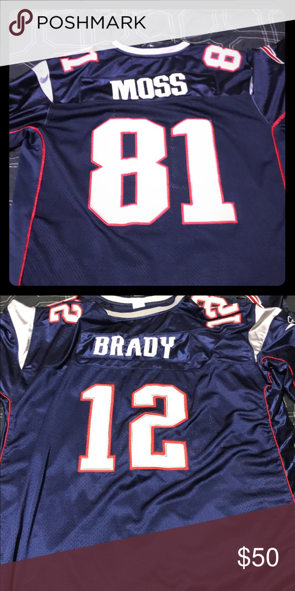 New England Patriots jersey: RANDY MOSS, Tom Brady Used, 2xl moss