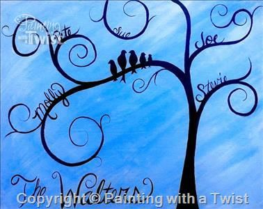 Our Family Painting With A Twist Family Tree Painting Tree
