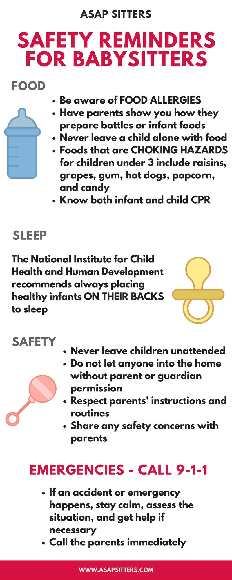 Important Safety Reminders For Babysitters And Caregivers Watching Infants And Young Children Babysitte Babysitting Fun Babysitter Checklist Babysitting Jobs