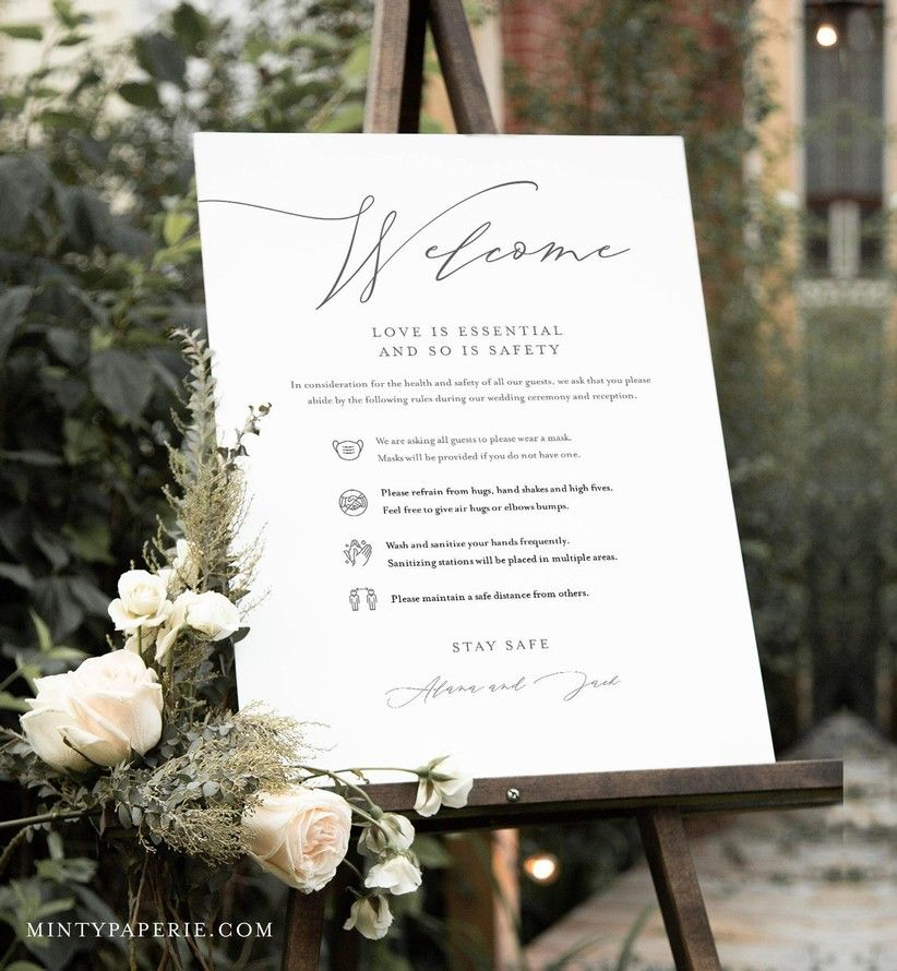 22 Clever Social Distancing Signs for Your Wedding in 2020