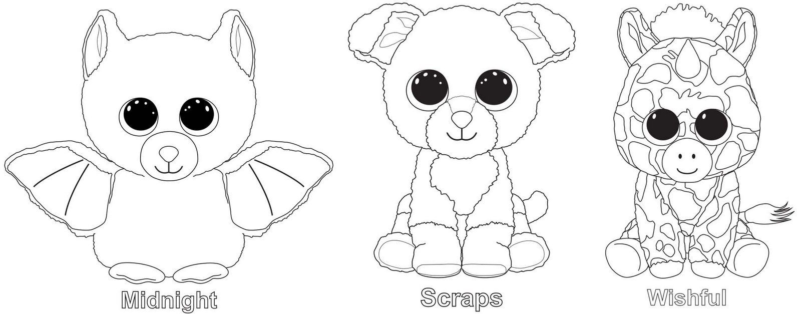 - Midnight Scraps Wishful From Beanie Boo Coloring Page Teddy Bear