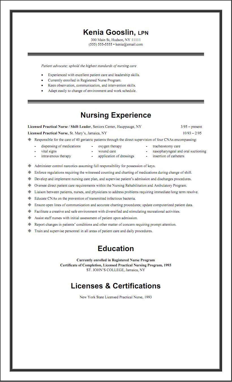 Sample Lpn Resume Examples Resume Lpn Resume Rn