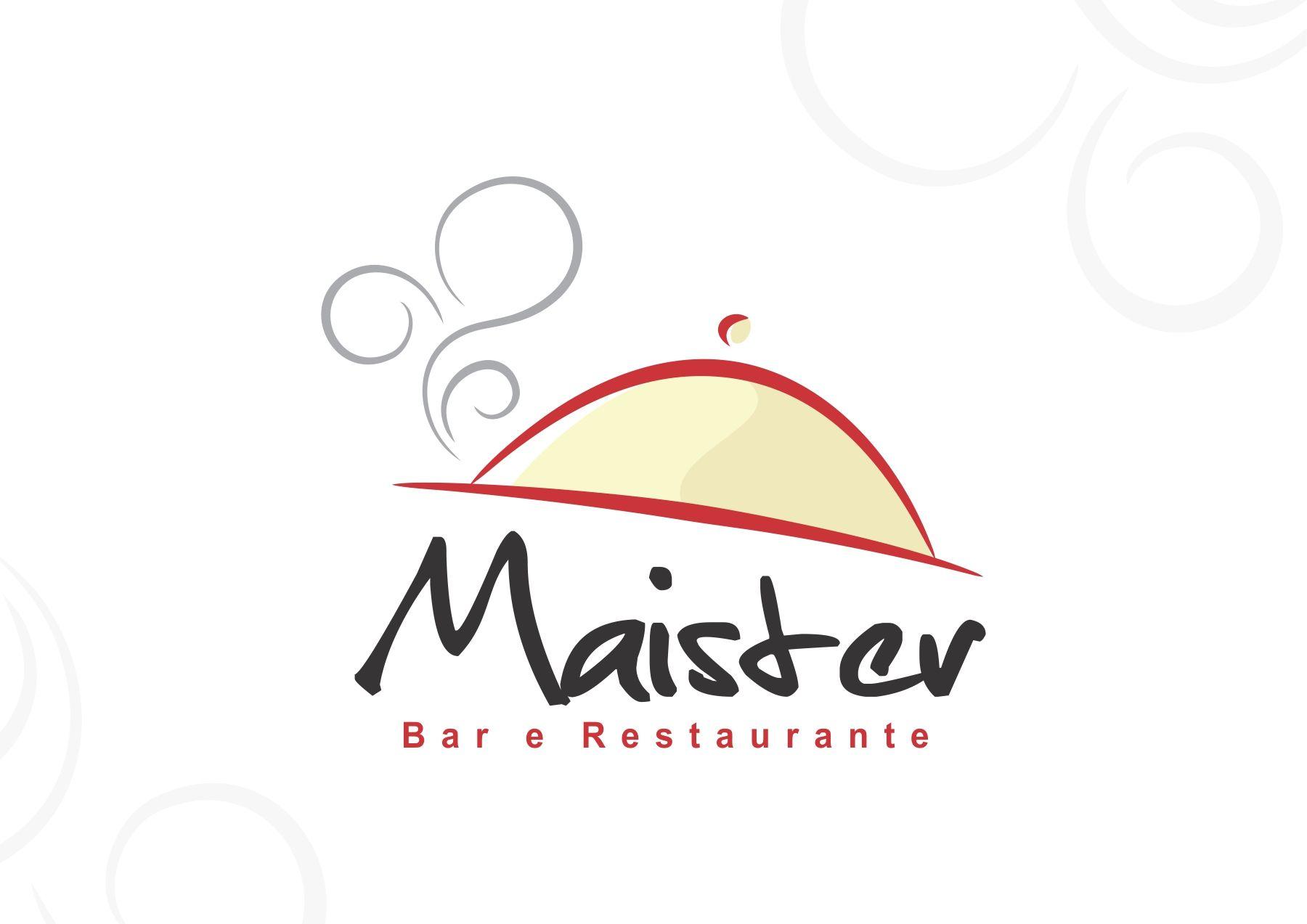 logo para restaurante e bar maister opção 2 logos