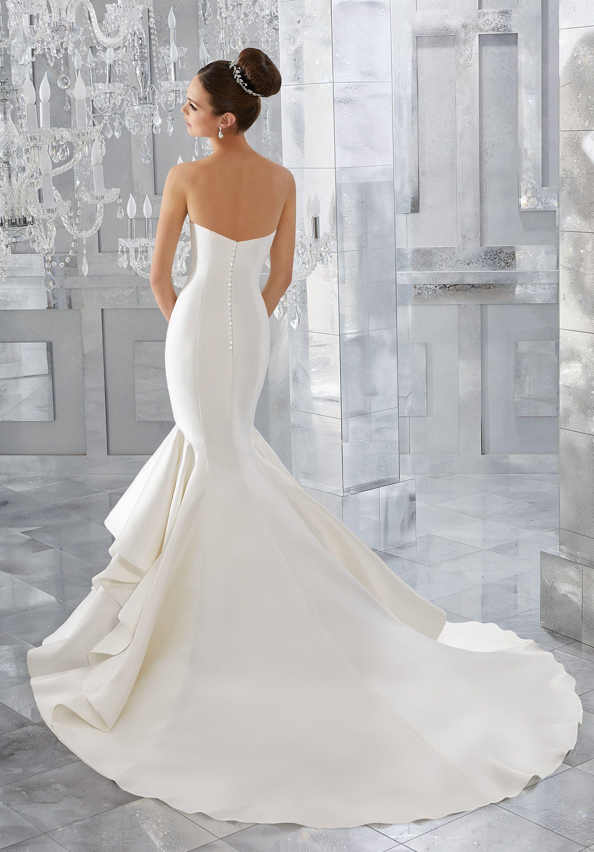 Merci Wedding Dress Morilee Satin Mermaid Wedding Dress Wedding Dresses Lace Wedding Dresses Strapless [ 2630 x 1834 Pixel ]