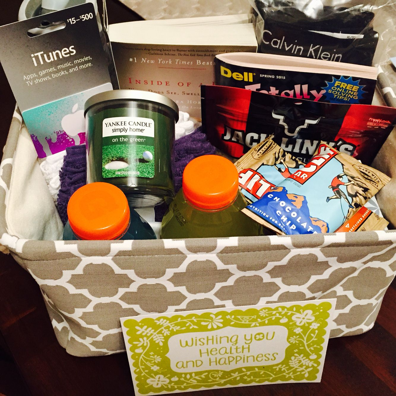 gift basket ideas for men. this one in particular is for a surgery