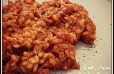 Risotto Bacon Tomates Basilic