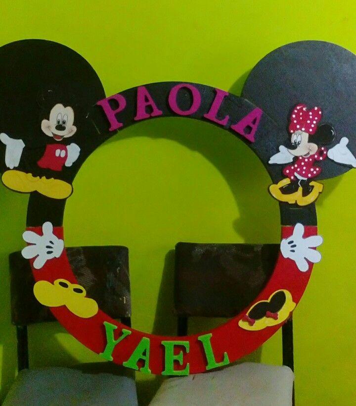 Marco de minnie y mickey para fiesta de 3 años | ideas mickey ...