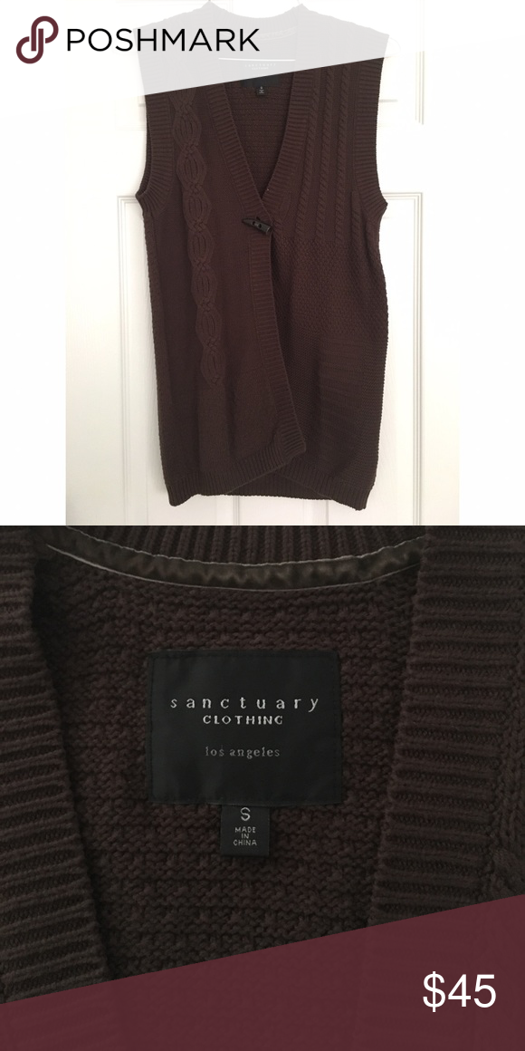 ladies sweater vest. NEVER BEEN WORN!! super soft & trendy vest. i bought it and never wear it. Sanctuary Sweaters V-Necks