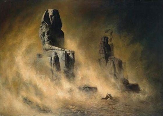 Karl Wilhelm Diefenbach - Die Memnonkolosse Im Sandsturm