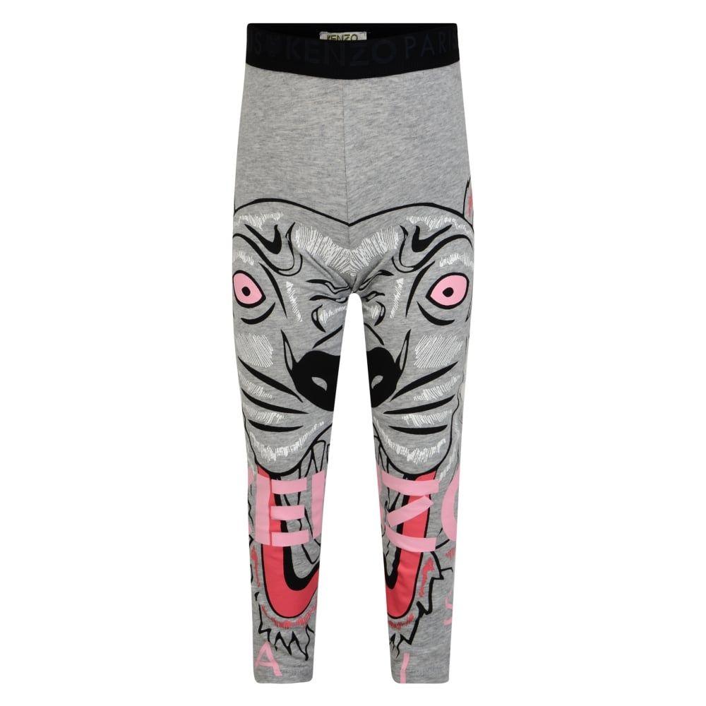 092e745343f6 Kenzo Kids Girls Grey Tiger Leggings