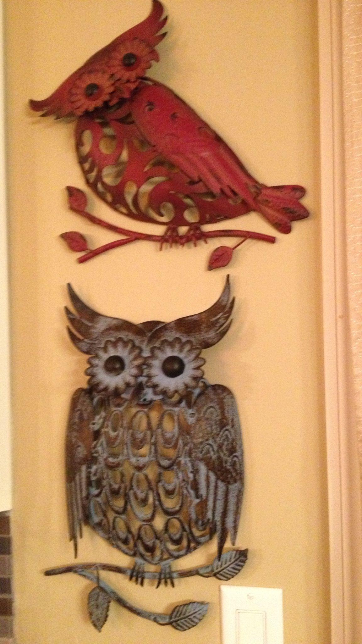 Medal owls from Hobby Lobby
