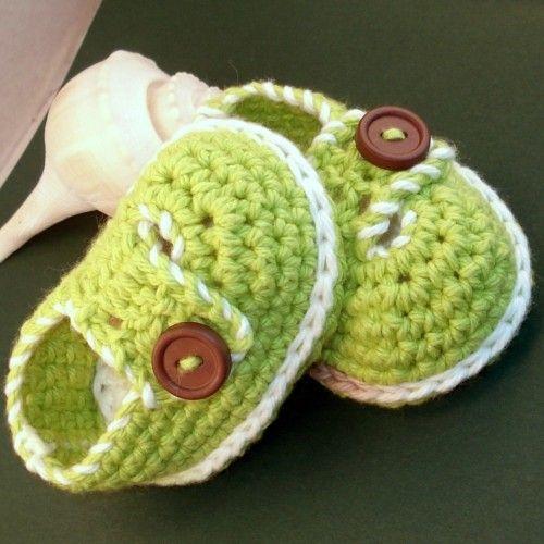 Gehäkelte Babyschuhe (schöne Jungenvariante) | häkeln | Pinterest ...
