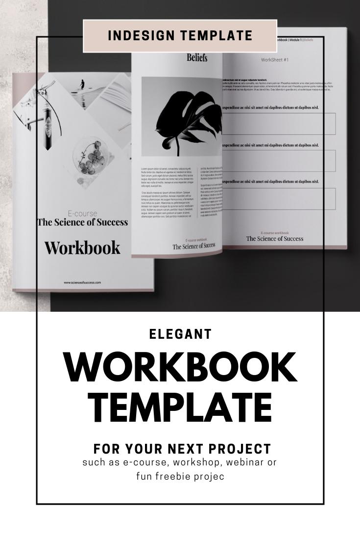 E Course Workbook Indesign Template Workbook Template Workbook Design Indesign Templates