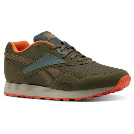 10734b014447b Reebok Men s Rapide in ARMY GREEN LAVA Size 4.5 - Retro Running Shoes