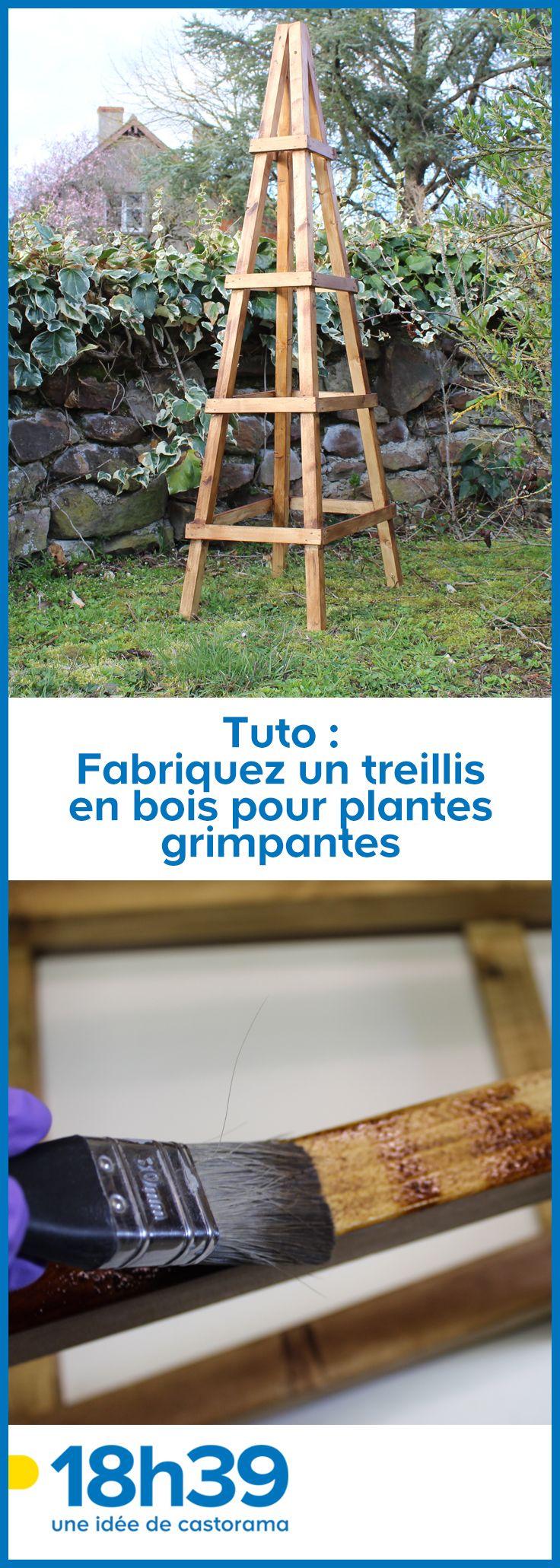 Fabriquer Treillis Bois Pour Plantes Grimpantes tutoriel diy un treillis en bois pour vos plantes grimpantes