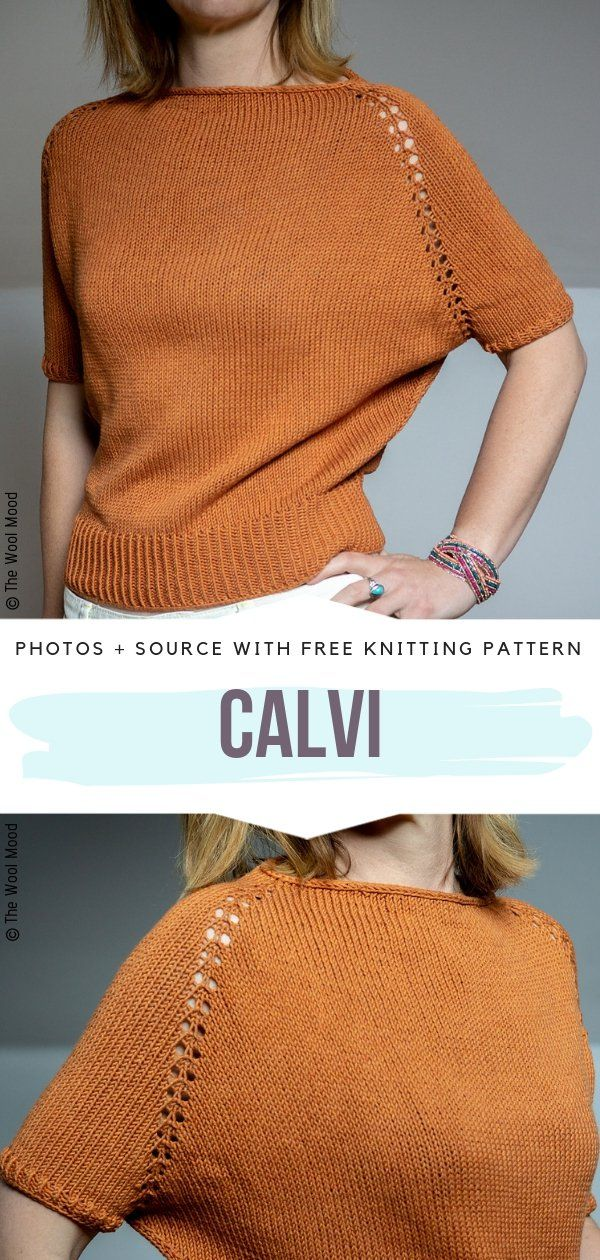 Light Summer Sweaters Free Knitting Patterns