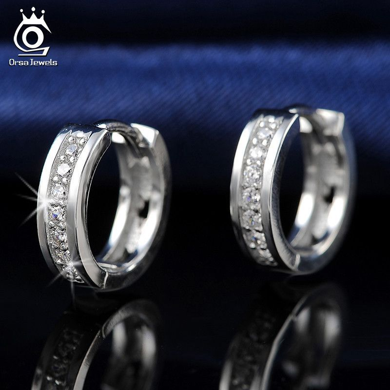 5e13fd8a8 ORSA New Arrival Classic Silver Earring for Ladies Platinum Plated Fashion  Ear Jewelry for Women Wholesale OE101