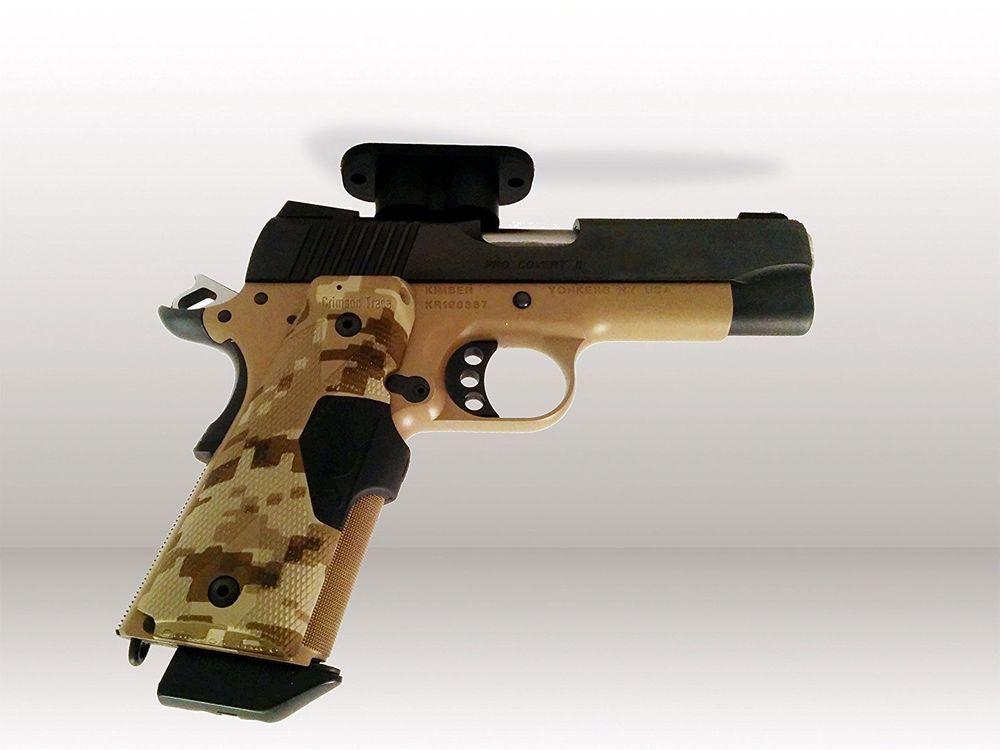Concealed Magnetic Gun Holster Pistol Holder Under Desk Table Bed Car Gun Magnet