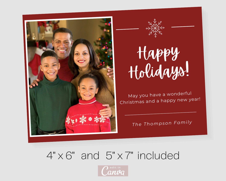 Christmas Card 2020 Family Christmas Card Holiday Card For Family Editable Christmas Card Family Christmas Cards Christmas Card Template Card Template