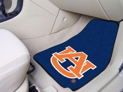"""Auburn 2-pc Carpeted Car Mats 17""""x27"""""""