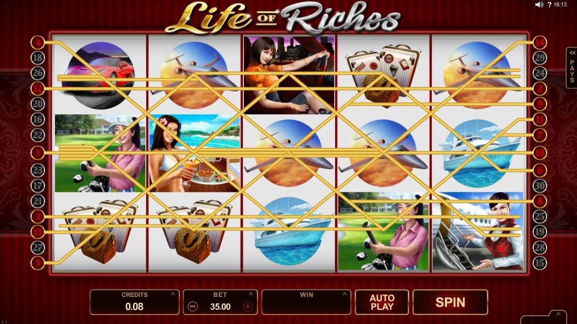I bet you don't wanna miss out on 'Life of Riches' slot
