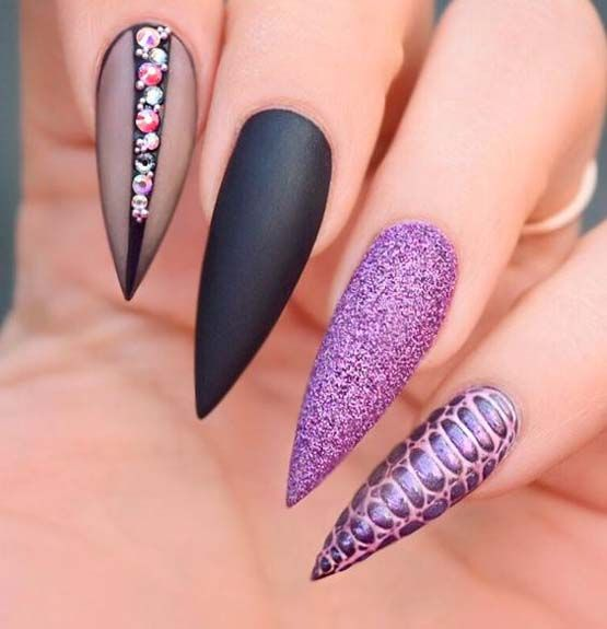 Long Nail Designs for Glamorous Girls | Nail Art | Pinterest | Long ...