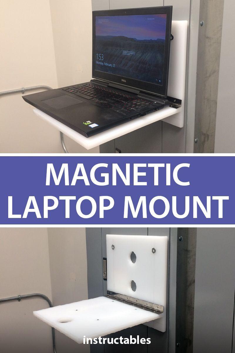 Magnetic Laptop Mount Magnets Wood Screws Workshop