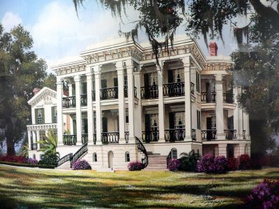 Front view of Nottoway Plantation
