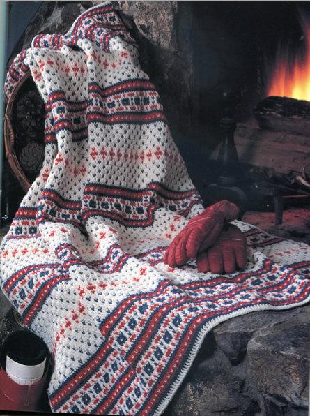 Ski Bunny Fair Isle Crochet Blanket Pattern by PearlShoreCat ...