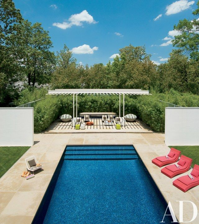Russell Buchanan Restores A Historically Significant Dallas Home Modern Pools Swimming Pool Designs Pool Designs