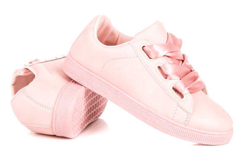 Tenisowki Damskie Czasnabuty Rozowe Stylowe Trampki Ze Wstazka Czasnabuty Sneakers Shoes Puma