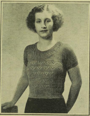 Free Art Deco Vintage Knitting Pattern For Womans Jumper With Lacy