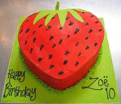Image result for strawberry shaped birthday cake future projects