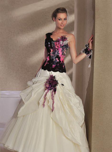 novias-en-blanco-y-negro-8 | Vestidos de novias de colores ...