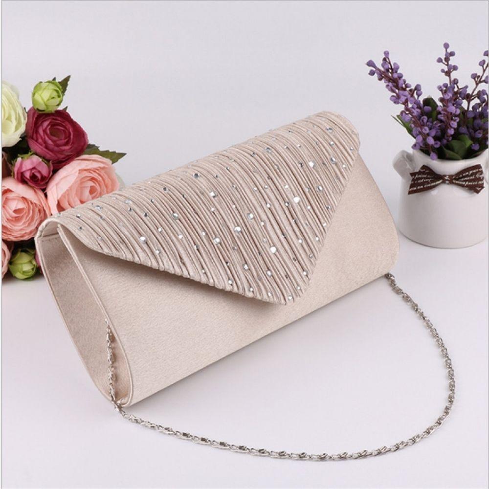 Ladies Envelope Clutch Women Evening Wedding Prom Party Shoulder Chain Bag Purse