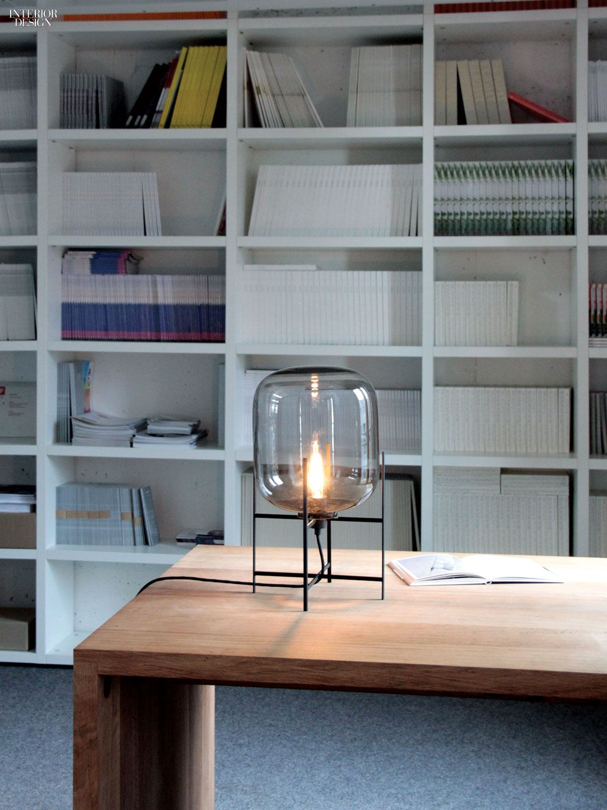 Oda table lamp in powder-coated steel and glass by Pulpo. | Lighting ...