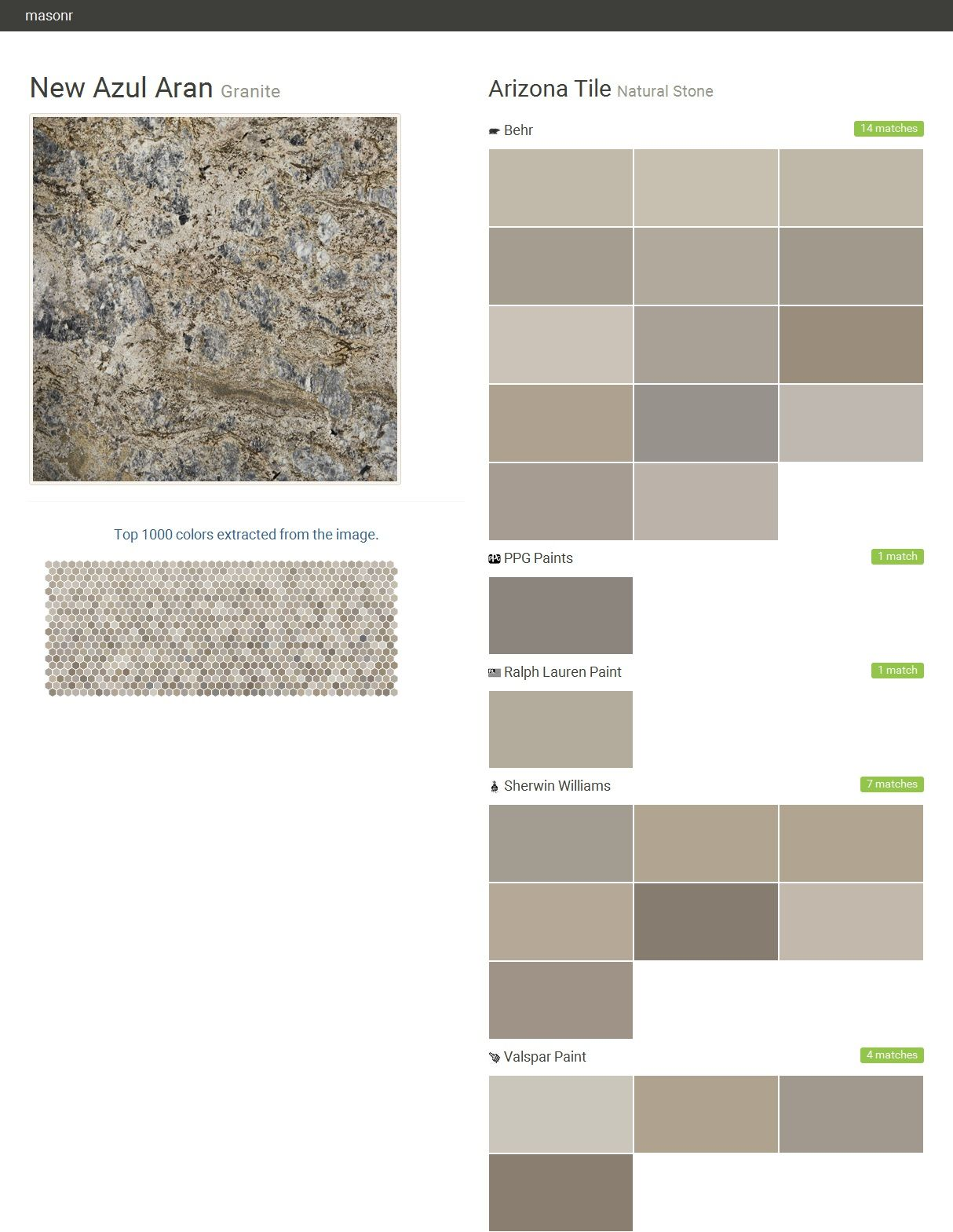 New Azul Aran. Granite. Natural Stone. Arizona Tile. Behr ...