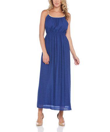 Another great find on #zulily! Navy Braided-Yoke Maxi Dress #zulilyfinds