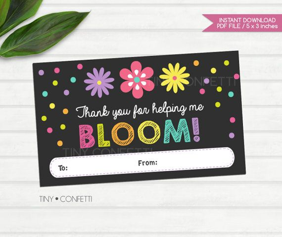 graphic relating to Thanks for Helping Me Bloom Printable called Thank oneself for encouraging me bloom, printable, trainer thank your self