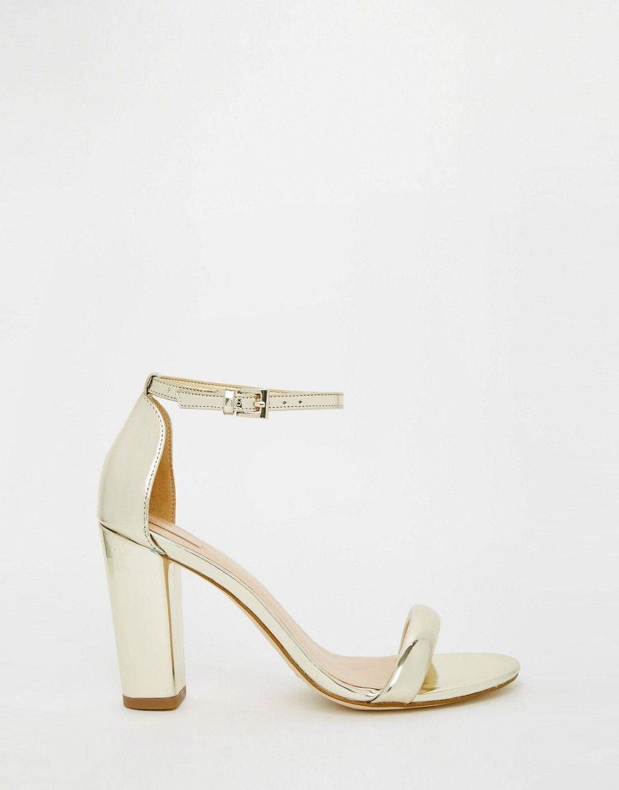 Aldo Cicci Gold Block Mid Heel Sandals At Asos Com Mid Heel Sandals Heels Sandals Heels