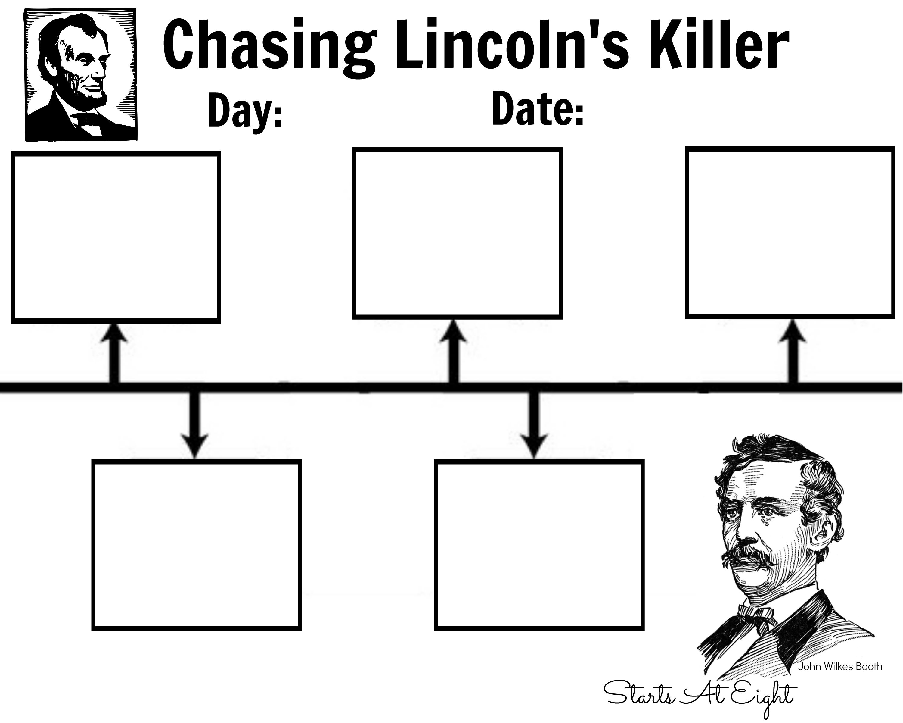 Chasing LincolnS Killer Timeline Printable  Notebooking For