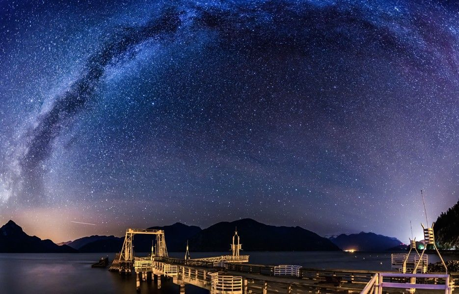 Milky Way, Vancouver, British Columbia, Canada