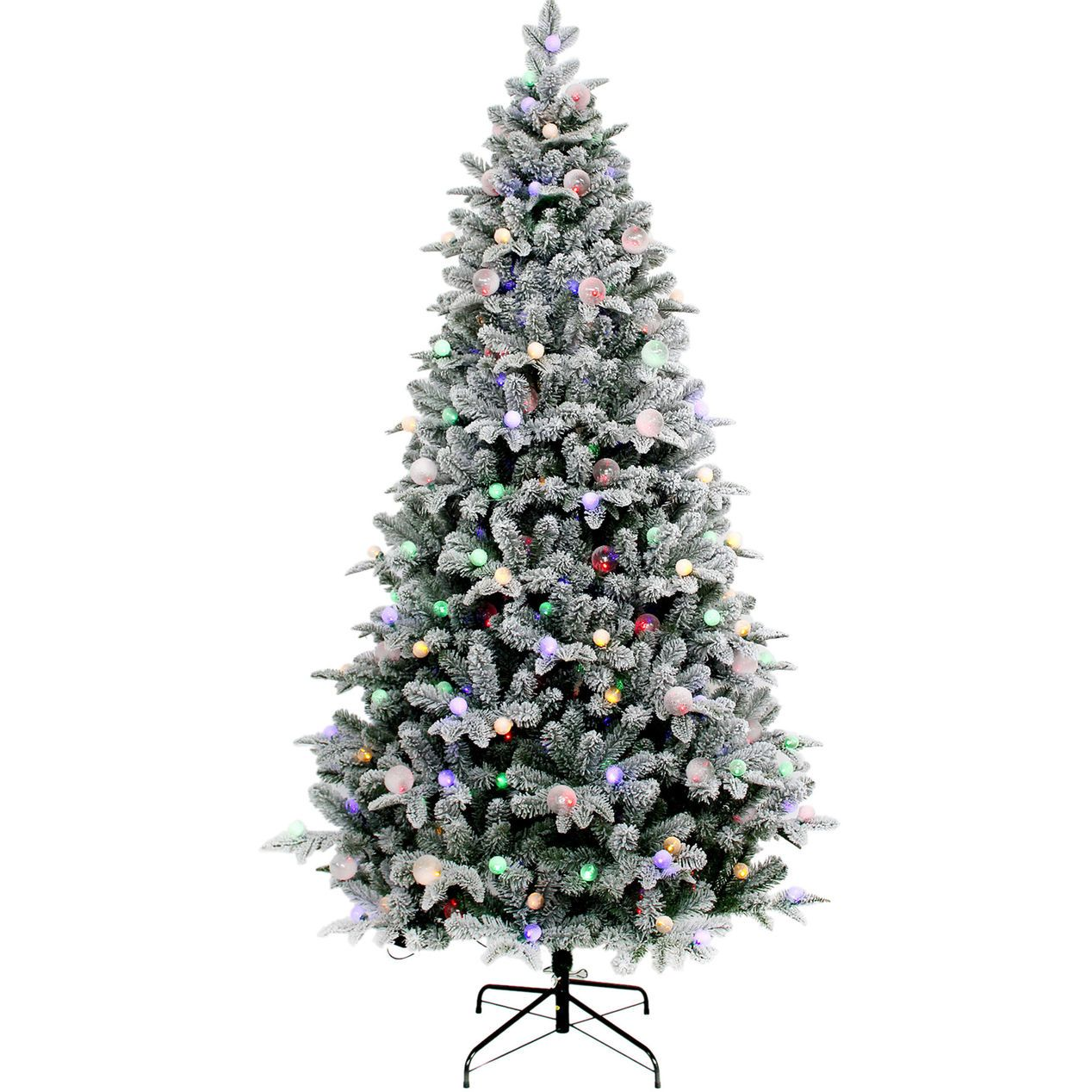 At Home Christmas Trees.T2 7 Pre Lit Zuzu Flocked Christmas Tree At Home